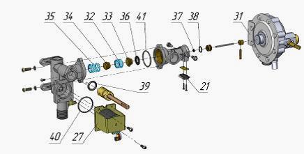 Газовая колонка Нева 4511 ремонт своими руками - подробная иснтрукция Схема водного клапана газовой колонки