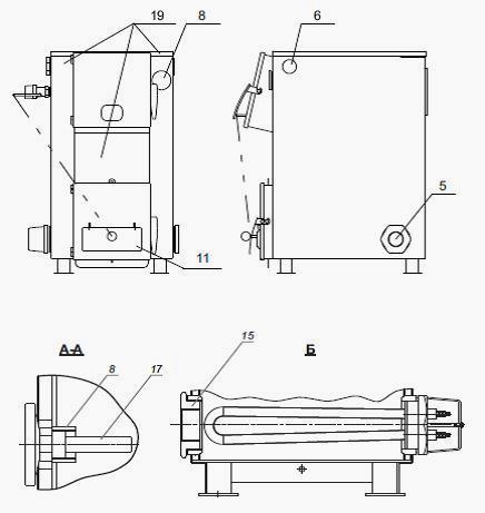 Схема дымохода котла купер полено для очистки дымохода