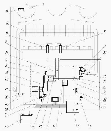схема газовой колонки Нева