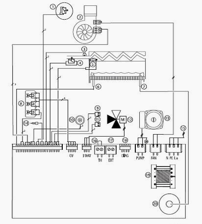 Электрическая схема настенного