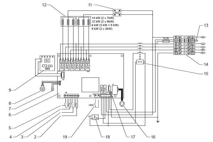 Схемы отопления электрокотлом protherm скат